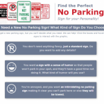 How to pick the perfect parking sign