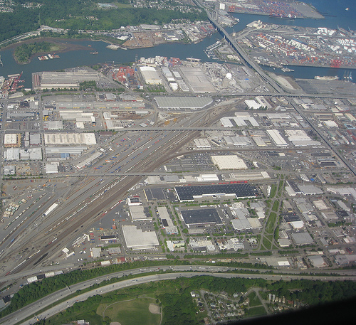 Industrial Seattle seen from the air