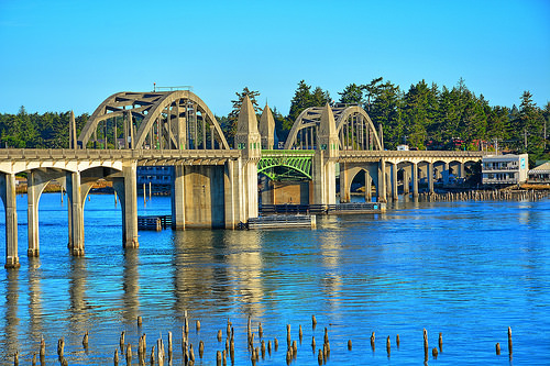 Siuslaw Bridge in Florence, Oregon