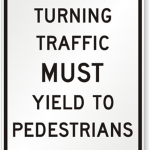 Pedestrian safety sign from PedestrianSigns.com