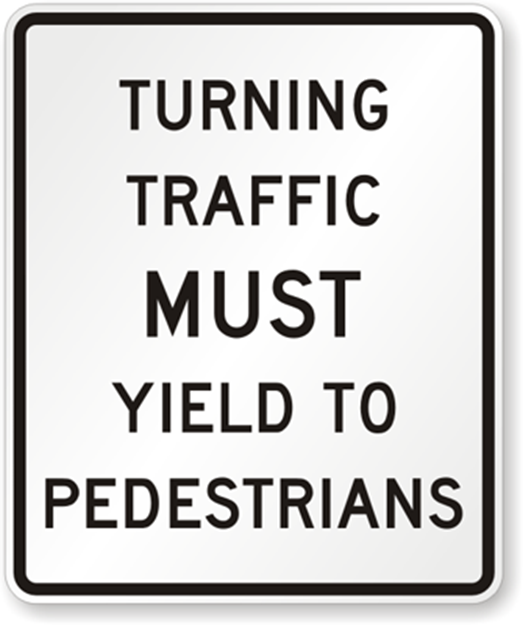 Pedestrian safety sign from PedestrianSigns.com
