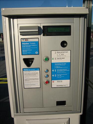 Parking meter in Stockholm, Sweden