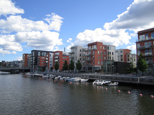 Marina urban development in Stockholm, Sweden