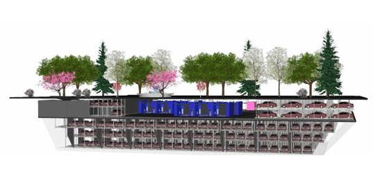 Automated parking garage concept