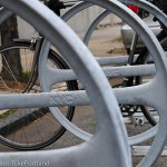 NYC uses bike corrals to protect bikes from traffic