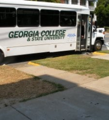 Georgia College shuttle bus