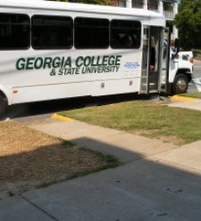 Georgia College shuttle bus