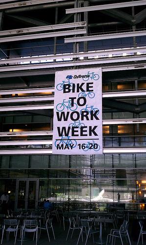 caltrans bike to work week sign