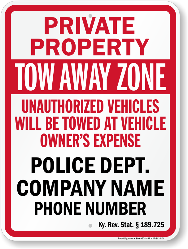 Parking signs in Kentucky | MyParkingSign com Blog