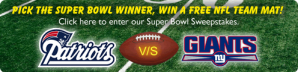 NFL Giants Patriots Sweepstakes