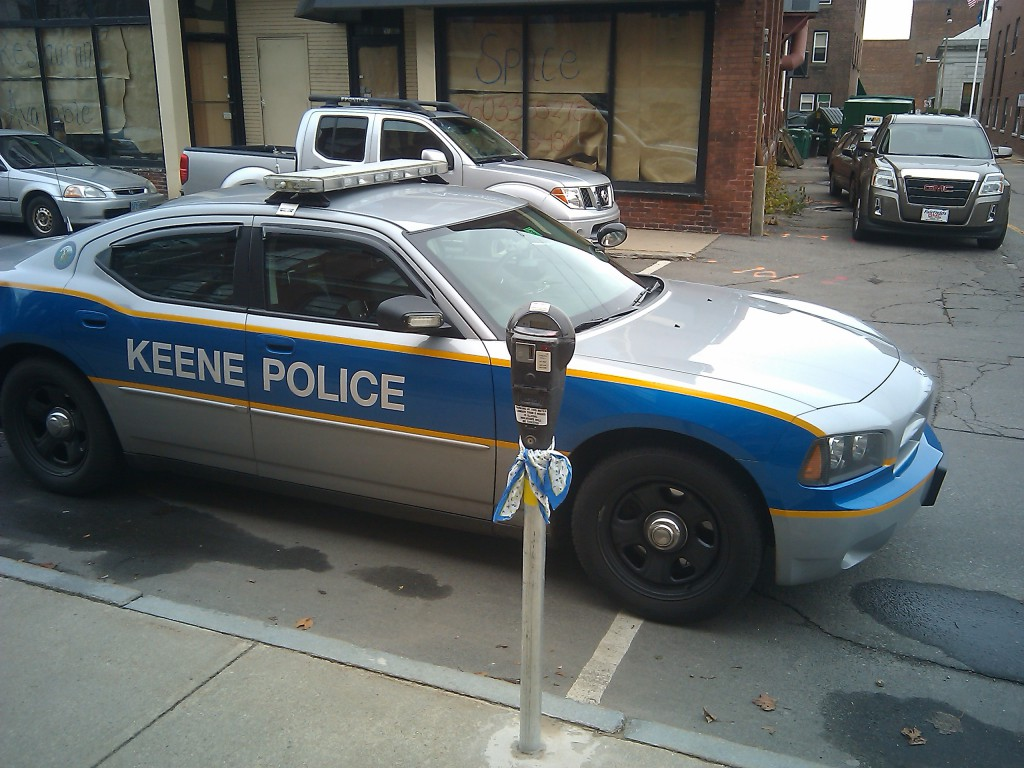 Keene police bad parking job