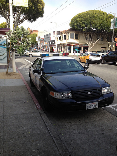 San Francisco police parked illegally
