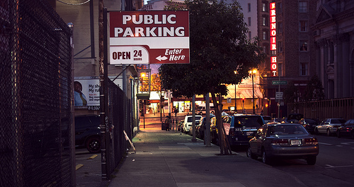 public parking sign in SF