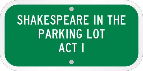 Custom Parking Lot Sign