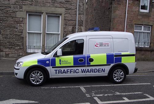 Northern Constabulary traffic warden