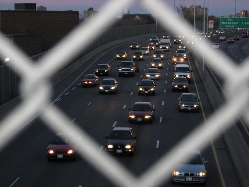 Highway traffic in Ottawa