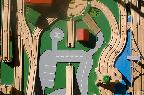 "USDOT on what American transportation will be like in 30 years: ""Don't expect the Jetsons, people."" Image from woodleywonderworks."
