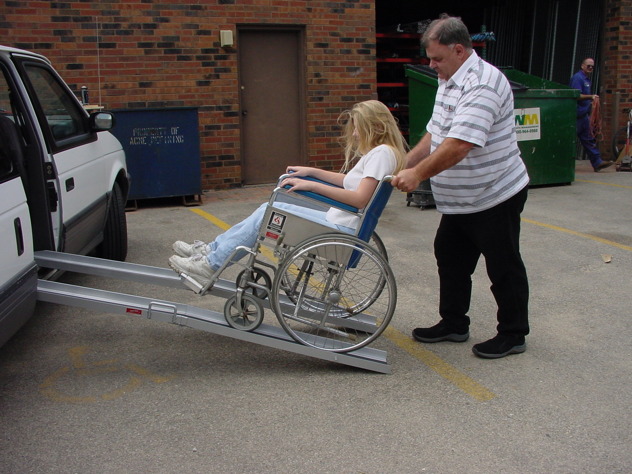 Used Wheel Chair Ramps wheelchair ramps: what length is right for disabled parking