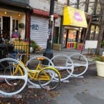 Gentrification debate sparked by bike parking in Brooklyn