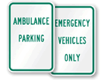 Ambulance Parking Signs