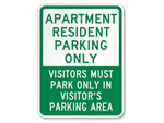 Apartment Parking Sign