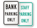 Bank Parking Signs