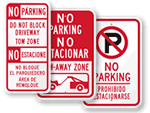 Bilingual No Parking Signs