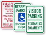 Bilingual Reserved Parking Signs