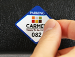 Custom Parking Permit Mirror Decals