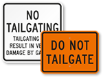 Tailgating Signs - Prevent Unauthorized Entry or Exit