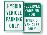 Hybrid Parking Signs