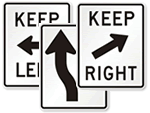 Keep Right Signs & Keep Left Signs