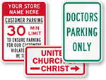 Parking Signs by Organization