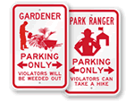 Parking Signs – by Profession