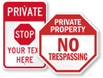 STOP - Private Property Signs