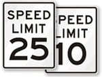 MUTCD Speed Limit signs