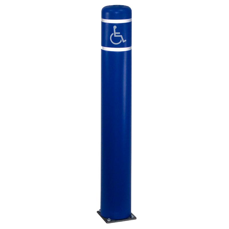 Flexible Bollard With Ada Handicap Symbol Signs Sku K 9820