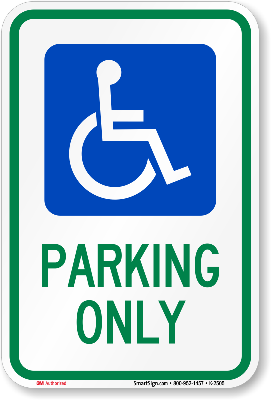 How To Stop Rust >> Ohio Handicapped Parking Sign, SKU: K-2505
