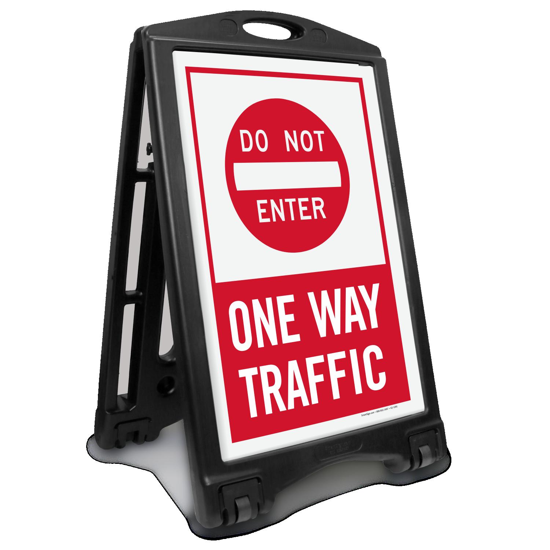 Dont Enter One Way Traffic Portable Sidewalk Sign Sku K Roll 1189