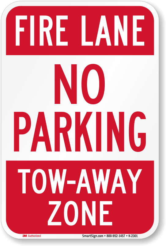 """No Standing No Stopping No Parking Tow Away Zone 8/"""" x 12/"""" Aluminum Metal Sign"""