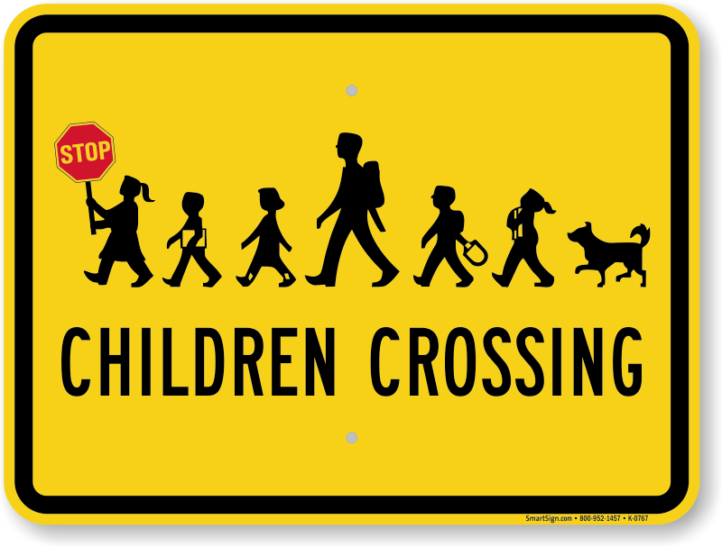 Kids Crossing Sign: Ch...