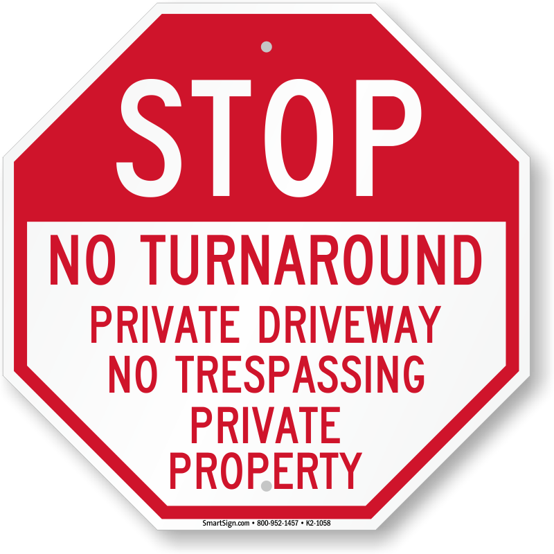 "Private Property No Outlet Sign Do Not Enter Symbol Aluminum Metal 8/"" x 12/"" Sign"