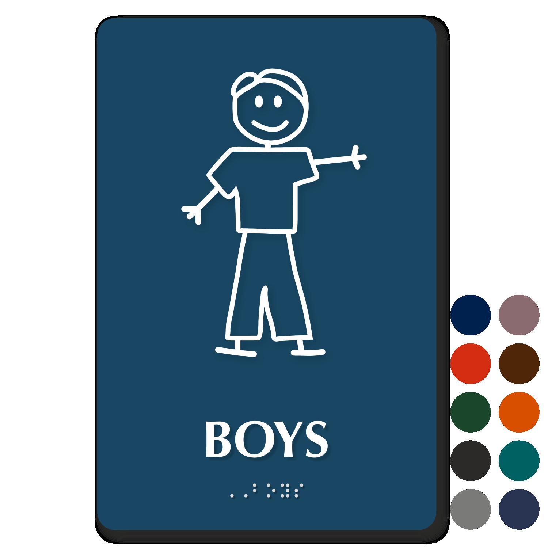 Boy bathroom sign