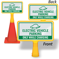 Electric Vehicle Parking ConeBoss Sign