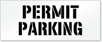 Permit Parking, Parking Lot Stencil