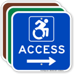 Accessibility Directional Sign