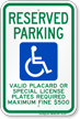 Hawaii ADA Handicapped Parking Sign