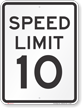 Speed Reduction Sign