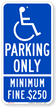 California Handicap Parking Sign