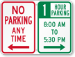 Custom No Parking Sign